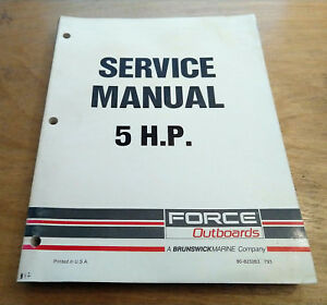 1990 force 90 hp outboard motor manual