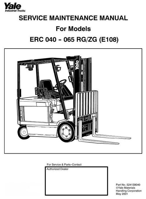 yale forklift parts manual free