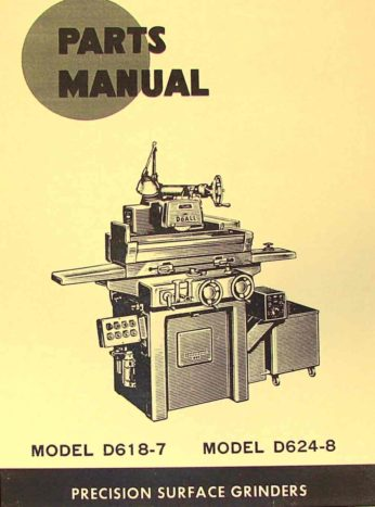 d618-7 doall surface grinder parts manual