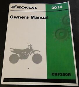 honda owners manual & competition handbook crf 450 x