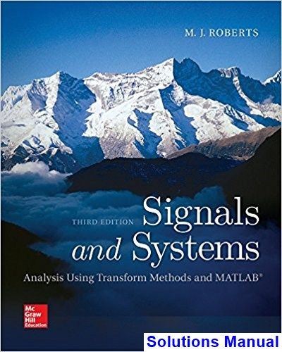 signal system and transforms solution manual